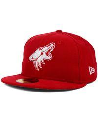 KTZ - Red Arizona Coyotes C-dub 59fifty Cap for Men - Lyst