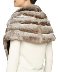 Gorski - Natural Chinchilla Fur Shawl - Lyst