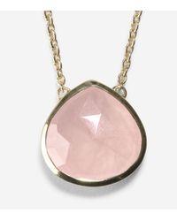 "Cole Haan | Metallic 16"" Semi Precious Necklace | Lyst"