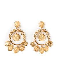 Dolce & Gabbana | Metallic Dropped Loop Earrings | Lyst