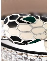 BVLGARI - Metallic Enamel Snake Head Bracelet - Lyst