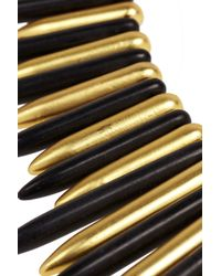 Kenneth Jay Lane | Black Stone And Gold-tone Necklace | Lyst