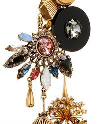 Vickisarge | Metallic Sylvia Crystal Charm Earrings | Lyst