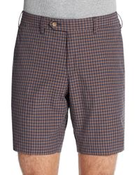 GANT | Multicolor Checkered Cotton Shorts for Men | Lyst