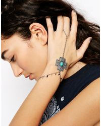 ASOS - Blue New Western Cross Hand Harness - Lyst
