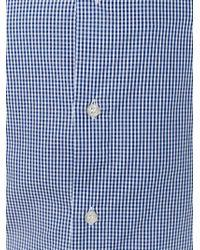 Armani Jeans - Blue Fine Check Shirt for Men - Lyst