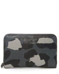 Marc By Marc Jacobs - Gray Grey Sophisticato Leopard Print Wingman Wallet - Lyst