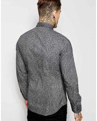 DIESEL | Black Floral Print Shirt for Men | Lyst