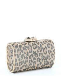 Jimmy Choo - Multicolor Sand Leopard Print Suede 'mini Charm' Clutch - Lyst