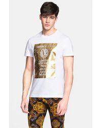 Versace Jeans - White 'City' Foil Print Graphic T-Shirt for Men - Lyst