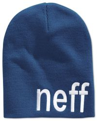 Neff | Blue Form Beanie for Men | Lyst
