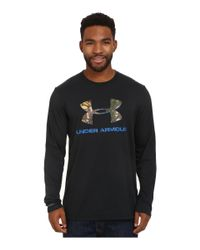 Under Armour - Black Camo Fill Logo Long Sleeve Tee for Men - Lyst