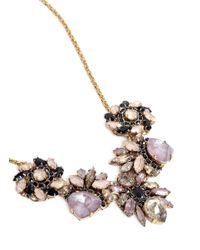 Erickson Beamon - Purple 'fortune Hunter' Crystal Cluster Flower Necklace - Lyst
