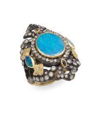 Armenta - Blue Old World Midnight Diamond, Opal & Sapphire Ring - Lyst