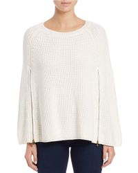 Guess | White Zip-up Cape | Lyst