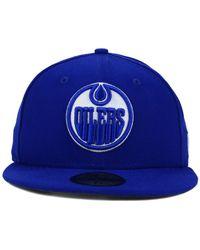 KTZ | Blue Edmonton Oilers C-dub 59fifty Cap for Men | Lyst