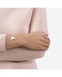 Dutch Basics | Metallic Double Moon Bracelet | Lyst