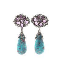 Arunashi - Blue Paraiba Drop Earrings - Lyst