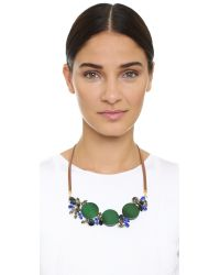 Marni - Brown Strass Necklace - Emerald - Lyst