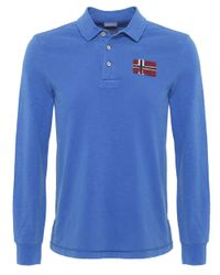Napapijri | Blue Esauf Long Sleeve Polo Shirt for Men | Lyst