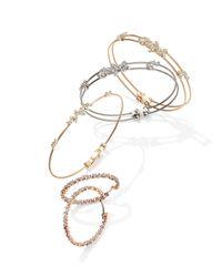 Paul Morelli - Metallic Diamond Confetti Double Wire Bracelet - Lyst