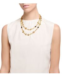 Tory Burch - Metallic Livia Double-Strand Necklace - Lyst