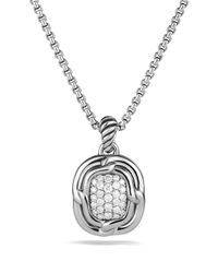 David Yurman | Metallic Labyrinth Pendant With Diamonds On Chain | Lyst