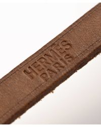 Hermès - Brown Guaranteed Authentic Pre-Owned Leather Bracelet - Lyst