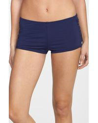 Tommy Bahama | Blue 'pearl' Shirred Swim Shorts | Lyst