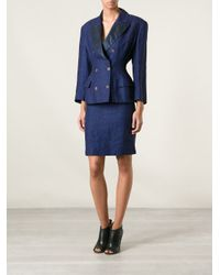 Jean Paul Gaultier - Blue Fitted Skirt Suit - Lyst