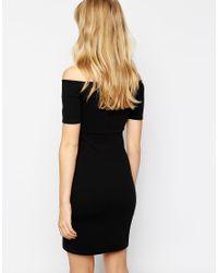 Vero Moda - White Off The Shoulder Bodycon Dress - Lyst
