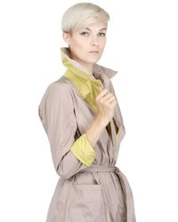 Add - Natural Two Tone Water Resistant Trench Coat - Lyst
