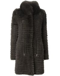 Yves Salomon | Green Reversible Coat | Lyst