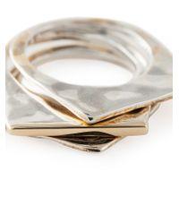 Rosa Maria - Metallic Set Of Three 'abla' Rings - Lyst