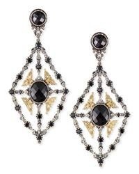 Konstantino | Metallic Onyx & Spinel Chandelier Earrings | Lyst