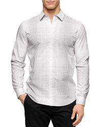 Calvin Klein - White Patterned Sportshirt for Men - Lyst