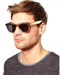 ASOS | Metallic Gold Wayfarer Sunglasses for Men | Lyst