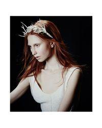Colette Malouf | Metallic Mesh Rose Crown | Lyst