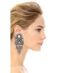 Erickson Beamon | Metallic Fringe Element Earrings - Clear | Lyst