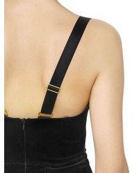 Maria Lucia Hohan - Black Cotton Blend Velvet Cat Bustier Dress - Lyst