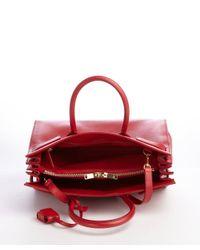 Saint Laurent - Red Calfskin Small Sac De Jour Bag - Lyst