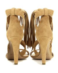 Chloé | Brown Fringed Suede Sandals | Lyst