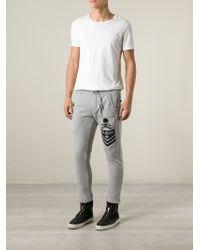Philipp Plein - Gray 'Bad' Track Pant for Men - Lyst