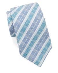 Vince Camuto | Blue Plaid Tie for Men | Lyst