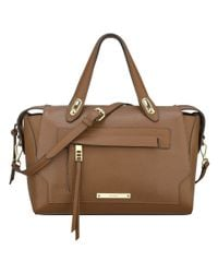 Nine West | Brown Seamingly Attached Satchel | Lyst