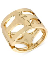 Robert Lee Morris | Metallic Bronze-tone Sculptural Cutout Hinge Bangle Bracelet | Lyst