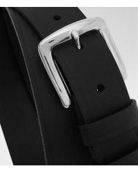Reiss - Black Hue Slim Leather Belt for Men - Lyst