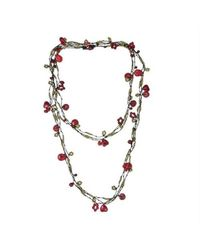 Aeravida | Multicolor Handmade X-long Triple Strands Red Coral Brass Necklace | Lyst