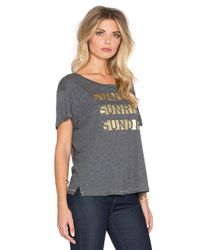 Sundry | Gray Sunday Sunrise Loose Crew Neck Tee | Lyst
