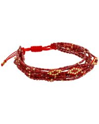 Chan Luu | Red 6 3/4' Adjustable Multi Strand Single | Lyst